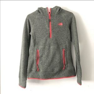 The North Face forest green pullover quarter zip